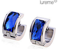 Lureme®Men's Titanium Steel Blue Diamond Earrings \ \ \ \ \ \ \ \ \ \