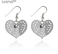 Lureme®Bright Color Heart-Shaped Earrings