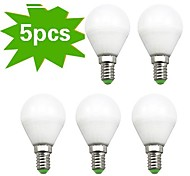 5 pcs H+LUX™ E14 7 W 18 SMD 2835 450 LM Warm White G Globe Bulbs AC 220-240 V