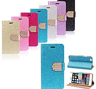 Luxury Bling Glitter Wallet Flip Leather Case Cover for iPhone 6 (Assorted Colors)