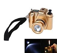 Leggeri 4513 stile fotocamera plactic gas butano antivento (colori assortiti)