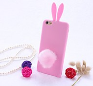 High Quality Silicone Phone Case Bunny Rabbit Ear Design for iPhone 6/6S (Assorted Colors)