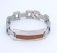 SPHERE New Metal Style Stainless Steel with Wood Bracelet