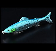 2pcs 130 milímetros multi-seção de isca de pesca com cor aleatória gancho