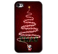 Weihnachtsbaum und Weihnachten Design Aluminium Hard Case für iPhone 4 / 4s