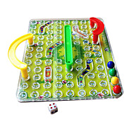 3D Snakes and Ladders Classic Family Chess Game