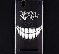Crazy Teeth Pattern Hard Case for Sony Xperia T2 Ultra