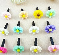 Chrysanthemum 3.5 MM Plastic Anti-dust Earphone Jack for iPhone/Samsung and iPad(Random Color)