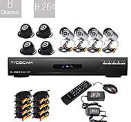 Conjunto DVR CCTV 8CH H.264 (8 Câmeras de Visão Noturna CMOS)