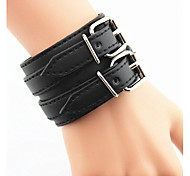 Men's Fashion Leisure Wide Leather Bracelet Christmas Gifts