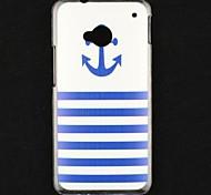 Boot vor Anker transparent Muster Hartschalenetui für HTC ein (pn07120, htl22, htc m7, htc 801E)