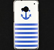 ancla del barco patrón transparente estuche rígido para un htc (pn07120, htl22, m7 htc, htc 801E)