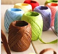 20m Twisted Paper Raffia Craft Favor Gift Wrapping Twine Rope Thread Art Flower Wedding Invitation Candy Box Decorations