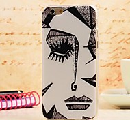A Face Pattern TPU Soft Cover for iPhone 6 Plus
