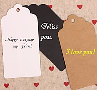 Kraft Paper Hang Tags Lables for Bookmark Gift Bakery Packaging Favors Wedding Party Price Cards Set of 50(More Colors)