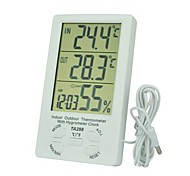 TA298 Indoor and Outdoor Electronic Temperature and Humidity Meter with The Probe Thermometer