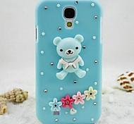 moda oso azul rhinestone pc contraportada para Samsung Galaxy Note 3