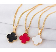 Love Is You A Clover Pendant Necklace