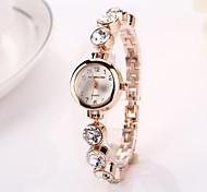 Women's   Round Big Diamond Dial   Drops Quartz Wristwatches  C&d214
