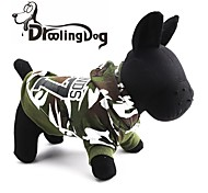 DroolingDog®  07 Camouflage  Pattern 100% Cotton Hooded T-shirt for Dogs (Green XS-L)