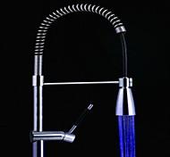 8009-a1 stilvollen Wasserstrahl Homochromy blaues Licht leuchtenden LED-Licht Wasserhahn Licht (aus Kunststoff, verchromt)