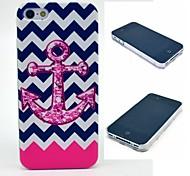die Welle rosa Anker-Muster Hülle für das iPhone 4 / 4s