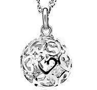 925 Sterling Silver Hollow Out Exquisite  Necklace With Water Wave Necklace