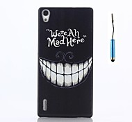 For Huawei Case Pattern Case Back Cover Case Word / Phrase Hard PC Huawei Huawei P7
