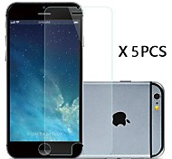 hd 5 stuks transparante screen protector voor iPhone 6