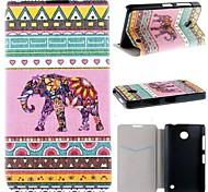 el color de la concha elefante cuero de la PU caso de cuerpo completo con ranura para tarjeta para Nokia Lumia 630 635 630 ds 630 dual sim