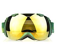 BASTO Snow Googgles Green Frame Yellow Sensor Mirror