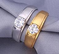 u7® 5mm 1ct funkeln Zirkonia Braut 18k Gold überzogene Ringe platinm