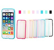 XUNDD Grind Arenaceous TPU Candy Color Hard Back Cover for iPhone 6(Assorted Color)