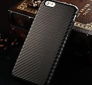 Modelo de la fibra de carbono superficie de cuero de la PU caso de la contraportada del tpu suave para el iphone 6 más (colores surtidos)
