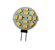 3W G4 Spot LED 12 SMD 5630 250-270LM lm Blanc Chaud DC 12 V