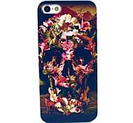 тигр цветок Череп Pattern форма Твердый переплет чехол для iPhone 5с