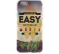 No es fácil, pero vale la pena dura del caso del diseño para el iPhone 6 Plus