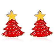 Christmas Gift Cute Star Christmas tree Earring