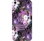 Purple Flower Pattern Back Case for iPhone 6