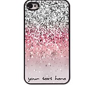 caja del teléfono personalizado - caso del diseño del polvo metálico brillante para el iphone 4 / 4s