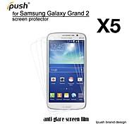 alta transparencia mate Protector de pantalla para samsung galaxy grand 2 (5 piezas)