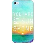 mi patrón de sol de nuevo caso para el iphone 4 / 4s