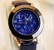 Womens'  Fashion Inlaid Austria crystal Leather Watch   Circular High quality Japanese watch movement(Assorted Colors)