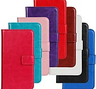 Horse Grain Solid Color PU Leather Full Body Cover with Stand and Case for LG L70 (Assorted Colors)