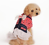 Cute Love Heart Angel Design Dress Clothes for Pet Dogs Red (assorted sizes)