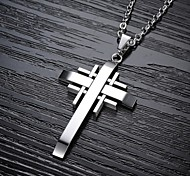 Cool Classic  Cross Titanium Steel Man Necklace Jewelry