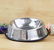 yi qin bol en acier inoxydable de haute qualité fournitures animaux arrosage bol de petite taille pour les chiens de compagnie