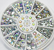 4 Size 300pcs Nail Art Tips Crystal Glitter Rhinestone Decoration Wheel Nail art Decoration