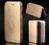 AURSEN® Fashion Rhinestone Diamond Bling Metal Flip Leather Case Cover for iPhone6 4.7 (More Colors)
