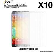 hohe Transparenz matte LCD Screen Protector mit Reinigungstuch für Samsung-Galaxie Anmerkung3 neo (10 Stück)